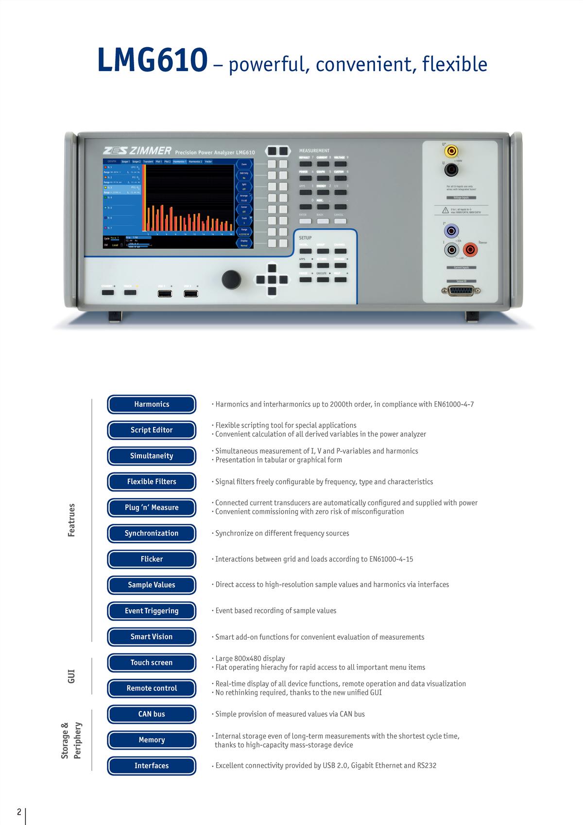 功率分析仪LMG610